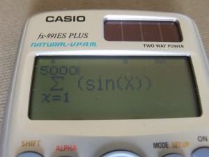 fx-991es plus - long calculating formula